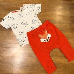 Fox Shirt & Pants Set